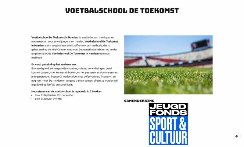 Voetbalschool de Toekomst in Haarlem